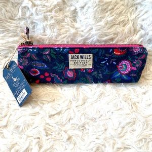 NWT Jack Wills Gelsford pencil case floral